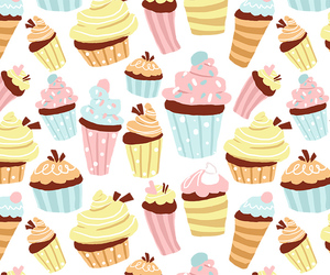 background, candy, and cupcake image
