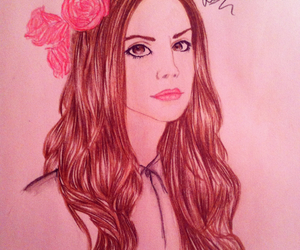 art, drawing, and lana image