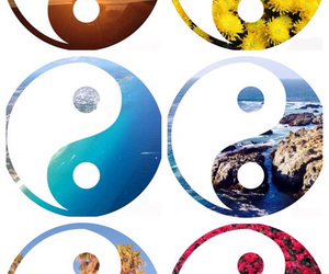 colors, yin yang, and cool image
