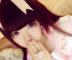 kawaii, cute, and 桃 愛好 image