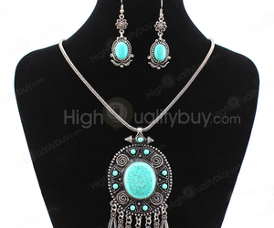 earrings, ethic, and pendant image