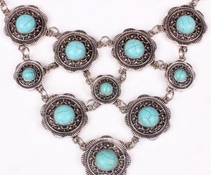 blue, fashion, and necklace image