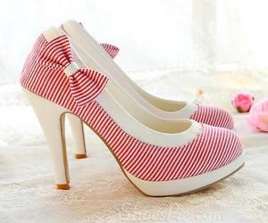 bowtie, heels, and prom shoes image