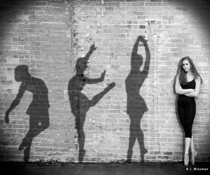 black, dance, and wall image