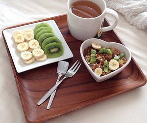 food, banana, and kiwi image