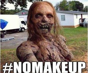 zombie, makeup, and twd image