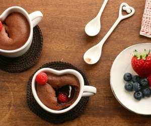 berries, chocolate, and food image