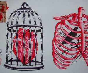 bird, heart, and ink it up image