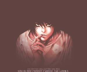 death note, lawliet, and L image