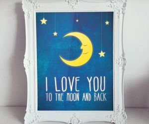 moon, kids decor, and children's illustrations image
