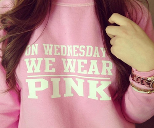 mean girls, pink, and on wednesday we wear pink image