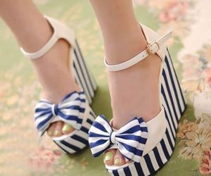 blue, heels, and stripes image