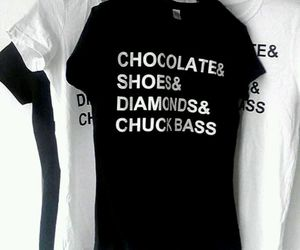 black and white, chocolate, and chuck bass image