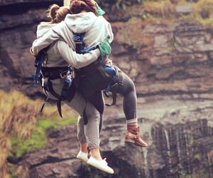 jump, laughs, and mountains image