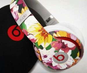 flowers and headphones image