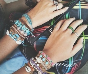 fashion, hippie, and accessoriesbracelets image