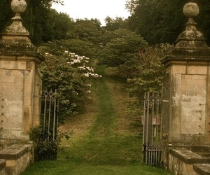 garden, gates, and house image