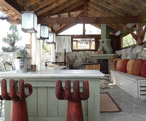 kitchen, kitchen design, and outdoor kitchen image