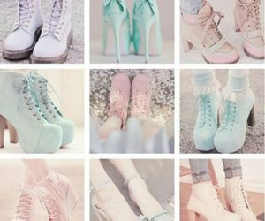 shoes, pastel, and heels image