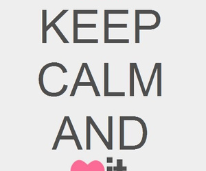 keep calm, heart, and pink image