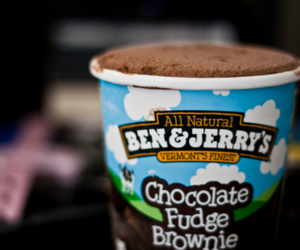 brownie, ben & jerry's, and chocolate image