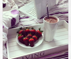 bed, chocolate, and favorite image