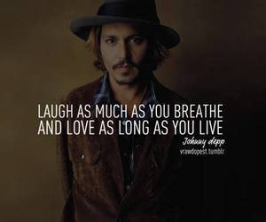 johnny depp, love, and quote image