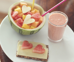 healthy, watermelon, and food image