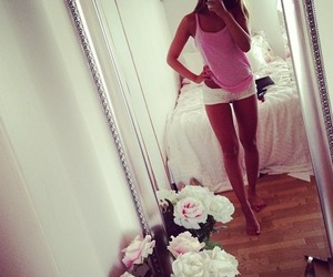 girl, pink, and legs image
