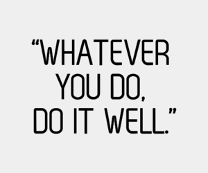 quote, well, and do image