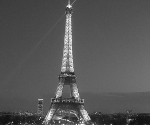 black and white, fashion, and paris image
