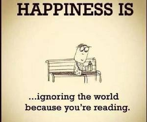 book, happiness, and reading image
