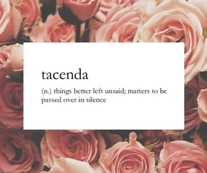 rose, words, and tacenda image