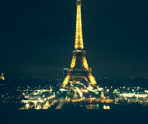 beautiful, eiffel tower, and light image