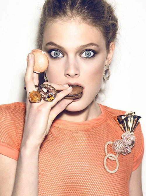 fashion, model, and laduree image
