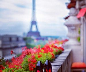 flowers, louboutin, and paris image