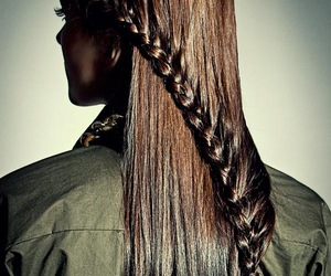braid, hair, and long hair image