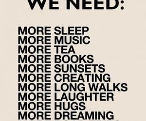 music, sleep, and hug image