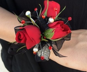 Prom, roses, and corsages image