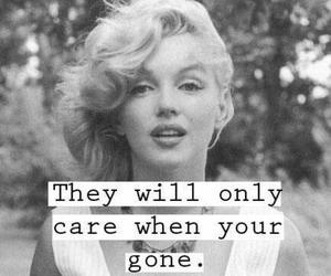 Marilyn Monroe, quote, and care image