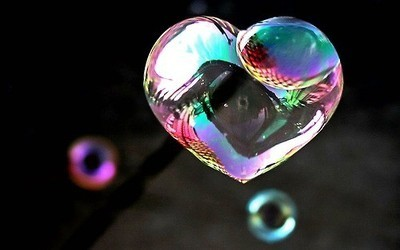 air, heart it, and rainbow image