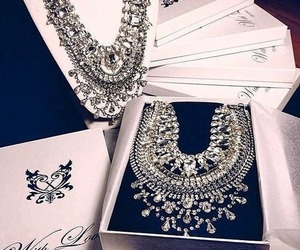 diamond, luxury, and necklace image