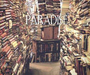 book, paradise, and library image