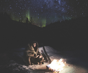 fire, snow, and stars image