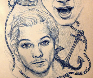 anchor, tattoo, and larry image