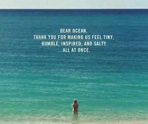 ocean, humble, and quotes image