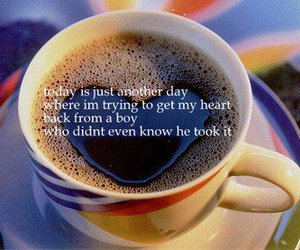 coffee, cup, and text image