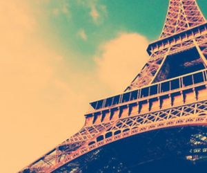 eiffel tower, paris, and romantic image