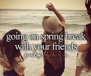 friends, girl, and spring break image