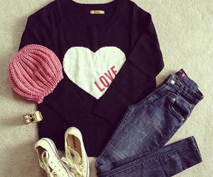 love, fashion, and clothing image